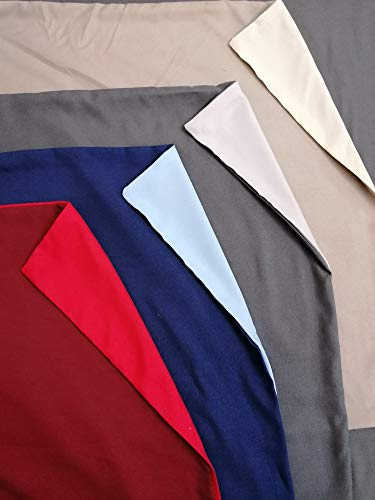 Pago Poco Duvet Cover with Super Soft Microfibre in Solid Colour Double/Face Size: Double-Seater and Half Colours: Grey-Red-Beige-Light Blue New 2020!! ! King single beige