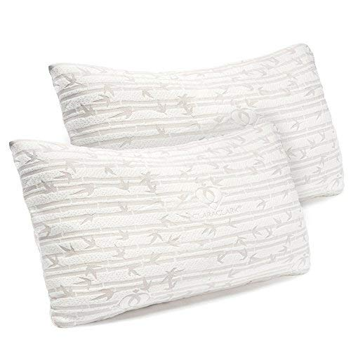 Clara Clark Shredded Memory Foam King (Cal-King) Size Pillow with Removable Washable Pillow Cover...