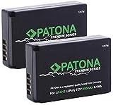 PATONA Premium (2X) - Ersatz für Akku Canon LP-E12 (850mAh) - zu EOS 100D M M10 M50 M100 M200 - PowerShot SX70 HS - Infochip (neueste Generation)