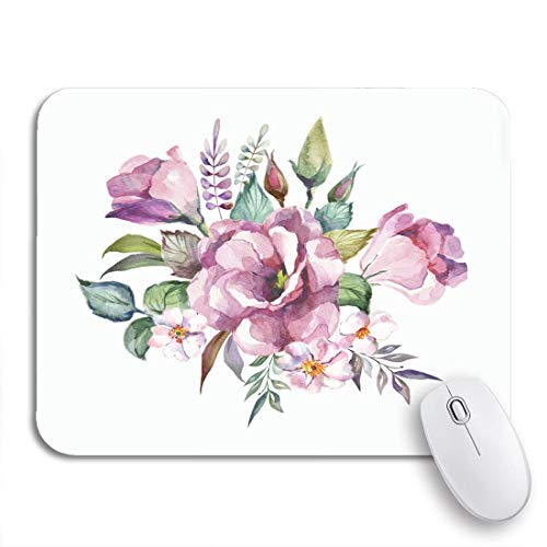 Gaming mouse pad bouquet aquarell blumen frühling schöne blüte botanische zeichnung blumen rutschfeste gummi backing mousepad für notebooks computer maus matten