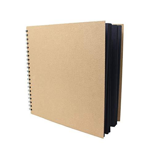Artway Enviro - Cuaderno de cartulinas Negras - 100% Reciclado - 270 gsm - Cuadrado y Grande - 285 x 285 mm - 30 Hojas