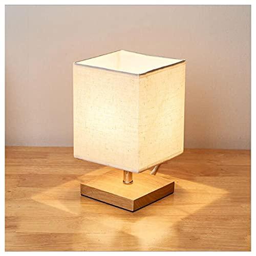 BHGY Lámpara de Mesa de Noche, Brillo de Control táctil con Pantalla de Tela, Regulable, Adecuado para Sala de Estar de Sala de Estar Sala de Estudio Square Small Table Lamp