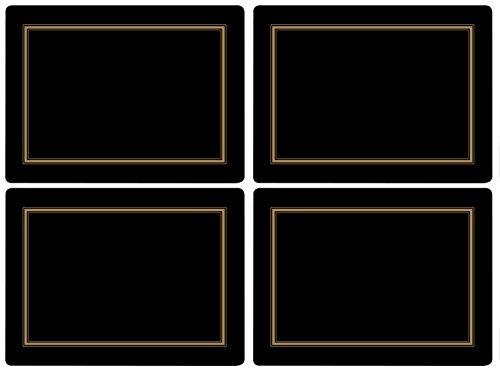 Pimpernel Classic Black Tischunterlage 4 Stück (s)