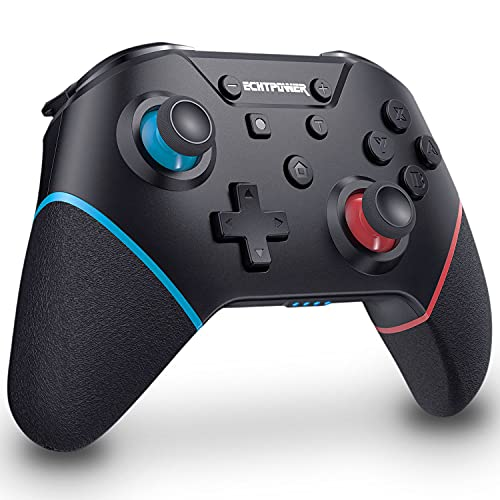 ECHTPower Wireless Switch Pro Controller with 4 Additional Buttons Remote Game Controller for Nintendo Switch/Lite Gamepad Joystick with Turbo, Adjustable Vibration, 6-Axis Gyro, Ergonomic Design