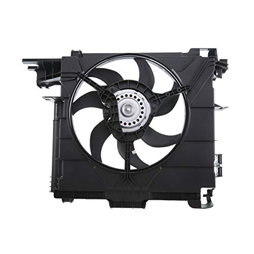 A-Premium Engine Radiator Cooling Fan Assembly with Motor Replacement for Smart Fortwo 2007-2015