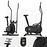 We R Sports® 2-IN-1 <span class='highlight'>Elliptical</span> Cross <span class='highlight'>Trainer</span> & Exercise Bike Fitness Cardio Workout With Seat (Black)