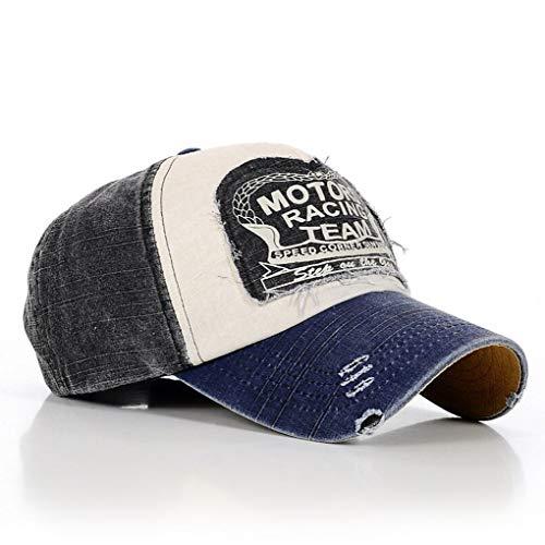 Uzinb Use Gorra de béisbol Hombres de Las Mujeres Lavable Carta del Remiendo del algodón del Sombrero de Hip Hop Deportes Ocio de Primavera y Verano