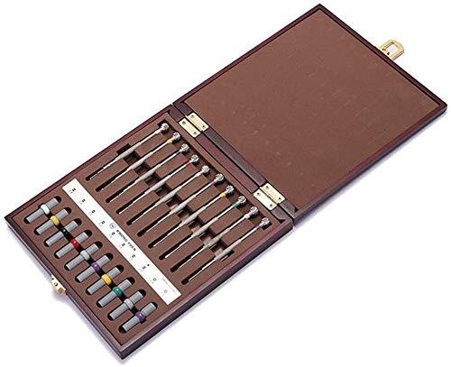 ZW18U Juego de Herramientas magnéticas Herramientas de reparación de Relojes Conjunto de 10pcs con Barril de Peso para relojero Kit de Herramientas de precisión