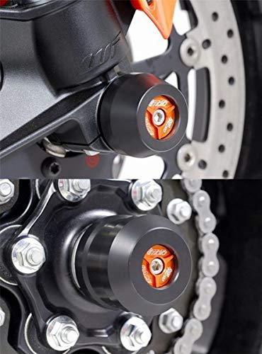 GSG-Moto Sturzpads Vorderrad+Hinterrad passend für die KTM Super Duke 1290 / GT Inlay Orange NEU
