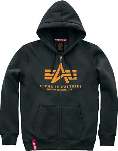 ALPHA INDUSTRIES Herren Basic Zip Hoody Sweatshirt, Verde Oscuro, XL