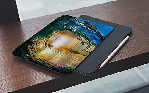 MEMETARO Funda para iPad (9,7 Pulgadas 2018/2017 Modelo), Océano Teal Azul Tropical Grandes Olas del mar Hawai Mar Surf Smart Leather Stand Cover with Auto Wake/Sleep