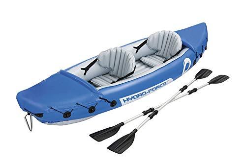 Opblaasbare rubberboot, River Fishing Boat voor 2 personen, met 2 Aluminium Oars en Voetpomp