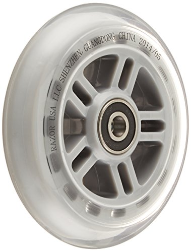 Razor Scooter Replacement Wheels Set with Bearings - Clear