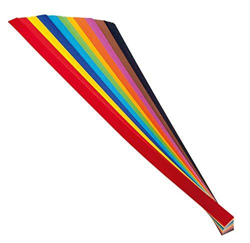 folia 70220 - Flechtstreifen farbig sortiert, ca. 50 x 2 cm, 200 Stück