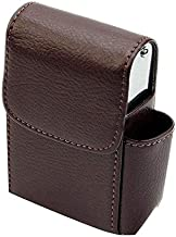 Cigarette case wallet Smoking accessory for box and lighter, BROWN