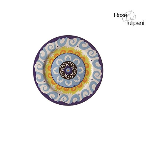 Rose e Tulipani Nador Mur r1330024bl Soucoupe, 16,5 cm, Bleu, Lot de 6