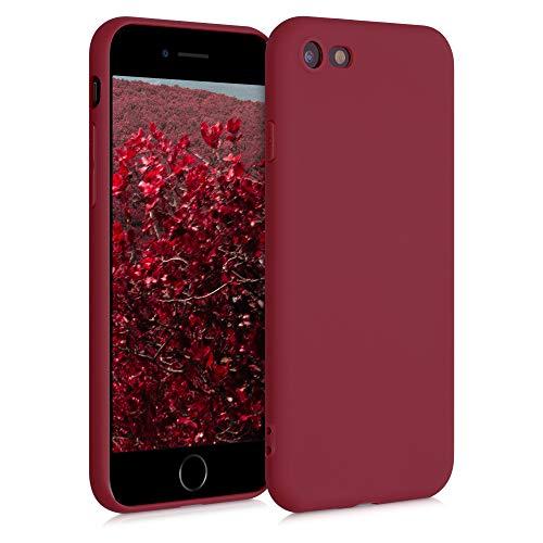 kwmobile Hülle kompatibel mit Apple iPhone 7/8 / SE (2020) - Handyhülle - Handy Case in Rhabarber Rot