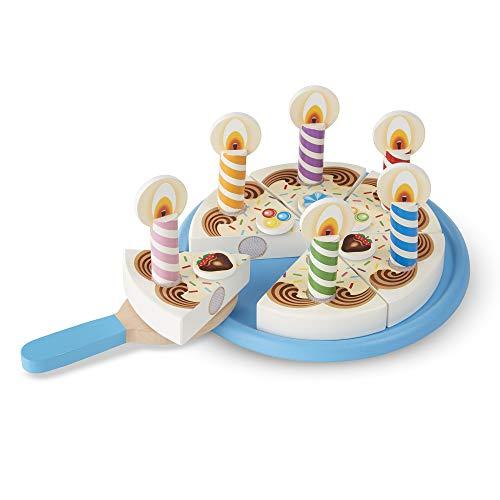 Melissa & Doug- Torta di Compleanno di Legno, Multicolore, 96042