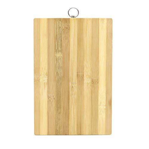 xutu Tabla de cortar grande de bambú para cocina, tabla de cortar madera con mango para queso, carne, tabla de cortar extragrande resistente al agua