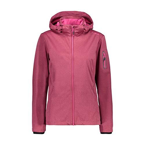 CMP Damen Lightweight, Windproof and Waterproof Softshell Jacket WP 8.000 Jacke, Goji Melange, D42