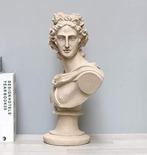 Apolo Belvedere Statue, Figure Bust Sculpture Modelo Apollo al aire libre a prueba de heladas Griego Jardín Hombre Adorno Estatua Figura Individualidad Busto Estatua Escritorio Decoración Adornos