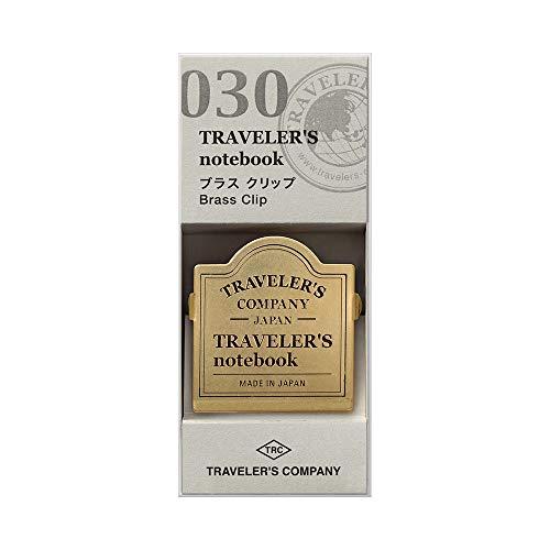 Brass Clip TRC Logo - Refill 030 per Traveler's Notebook Regular e Passport Size