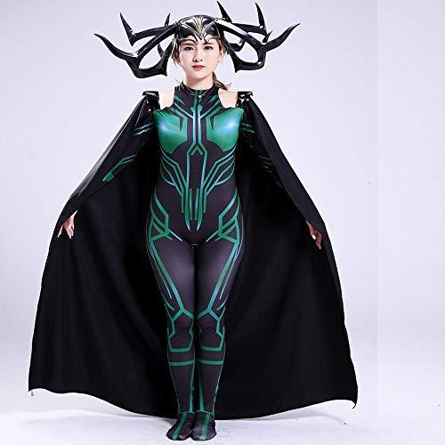 CSLOKTY Disfraz De Hela Cosplay Marvel Tight Christmas Halloween Fancy Dress para Niños/Adultos Wear Game Anime Role Playing M