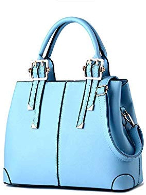 Bloomerang Famous Luxury Women Handbag Tote Large Capacity Women Bags Shoulder Tote Bags bolsos Women Messenger Bags color Sky blueee