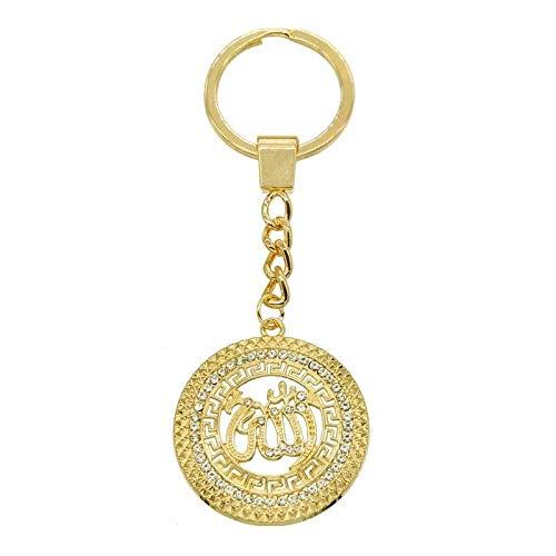 Afairy Llavero de Moda, Titular llaveros Llavero Allah Llavero musulmán joyería Hecho a Mano Colgante Encanto Afortunado joyería (Color : A)
