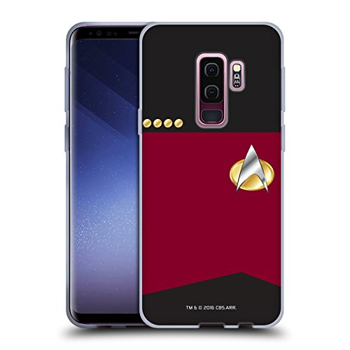 Head Case Designs Officially Licensed Star Trek Captain Uniforms and Badges TNG Soft Gel Case Compatible with Samsung Galaxy S9+ / S9 Plus