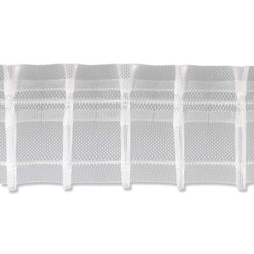 INTERDECO Bleistift-Faltenband/Bleistiftfalten-Gardinenband Transparent, 50 mm 1:2 für Gardinen, 5 Meter