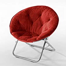 Urban Shop Faux Fur Saucer Chair, Adult, Red