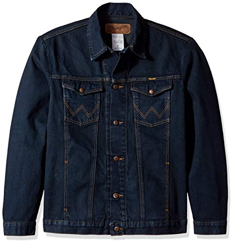 Wrangler Men's Western Style Unlined Denim Jacket, Dark Dye, X-Large