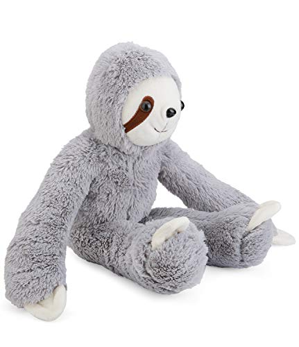 Sloth Stuffed Animal Valentine#039s Day Gift  Cute Sloth Birthday Gifts for Kids Gray 16 Inch