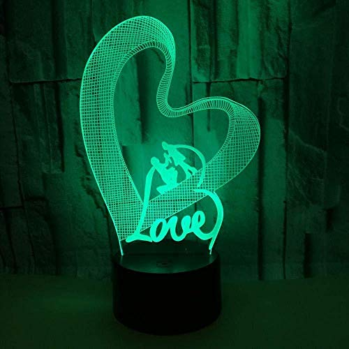 3D Night Light Loving Love 3D Led Colorful Night Lights Valentine S Day Moderne Desk Lamp Creative Gift Atmosphere 3D Small Table Lamp