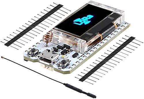 MakerHawk ESP32 LoRa Modul SX1276 868 915 MHz Wifi Modul IoT Karte Dual Core 240 MHz CP2102 Geringer Stromverbrauch mit 0,96 Zoll OLED Display und Antenne für Arduino