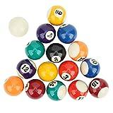 Ufolet 15 Bolas numeradas y 1 Bola Blanca de Billar, Bola de Billar de Resina, para Juegos de recreación Deportiva, Salas de Juegos, Bares