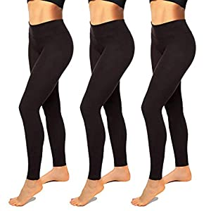 High Waisted Leggings for Women-Womens Black Seamless Workout