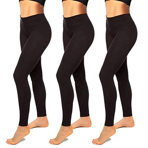 Womens Leggings-High Waisted Black Leggings for Women-Premium Jeggings for Workout