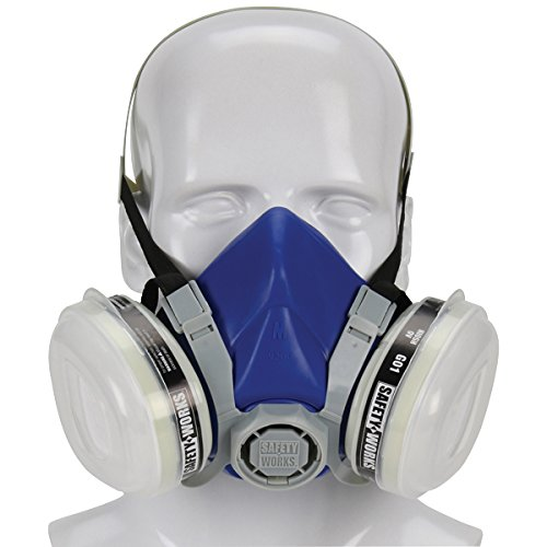 Safety Works SWX00318 Paint & Pesticide Respirator, Half-Mask, Niosh...