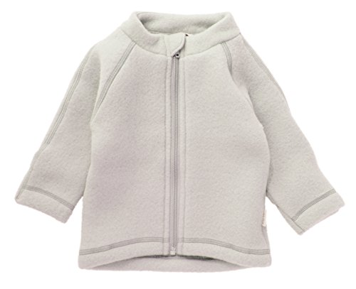 mikk-line Unisex Baby Wolljacke Jacke, Beige (Melange Offwhite 429), 80