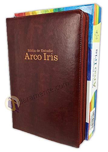Compare Textbook Prices for Biblia de Estudio Arco Iris con Cierre Reina-Valera 1960: imit. piel, caoba con índice  ISBN 9781535978453 by Broadman & Holman