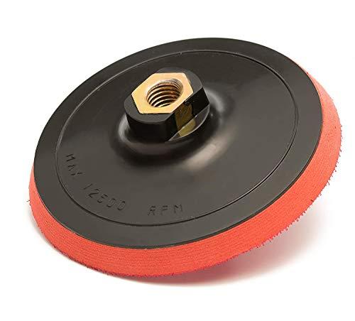 12,7 cm (125 mm) Velcro para lijadora, EVA capa 10 mm, rosca M 14 x 2, esponja de lija, almohadilla para pulido, Velcro con base