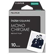 Fujifilm Instax Square Mono Chrome Film Pellicola Istantanea, Formato Quadrato, 62x62 mm, Confezione da 10 Foto