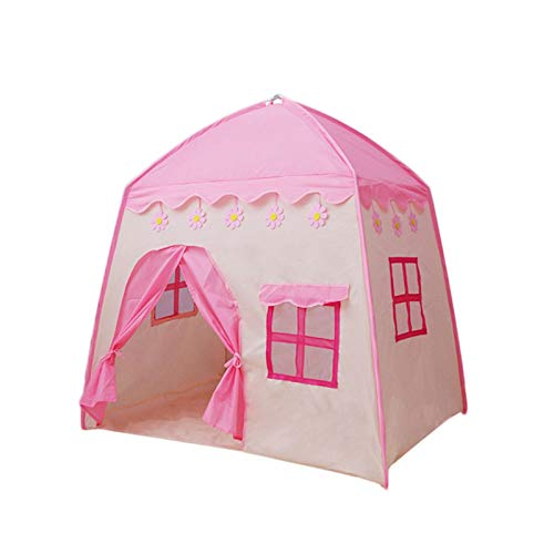 Home Kinder Bett Zelt Spielhaus Baby Home Zelt, Kleines Spielhaus Indoor Mädchen-Rosa-Prinzessin Toy House, 130X95X130cm