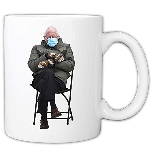 MyCuppa Joy Bernie Mittens Taza – Bernie Chair Meme Coffee 325 ml
