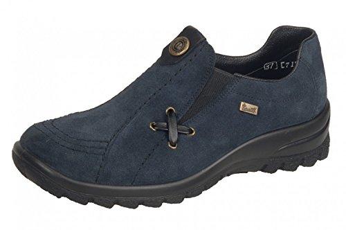 Rieker Damen L7171 Slipper, Blau (Pazifik/schwarz), 39 EU