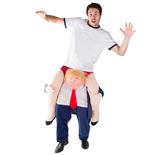 Bodysocks® Costume da Donald Trump a Cavalluccio (Carry Me) per Adulti