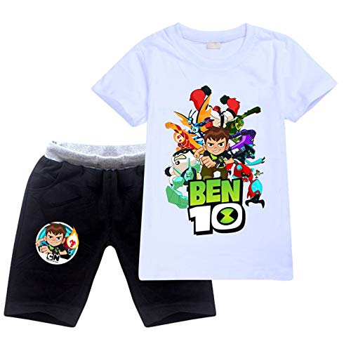 OYQGEJGPJA Cotton T-Shirt and Shorts Set for Boys and Girls 7-8y