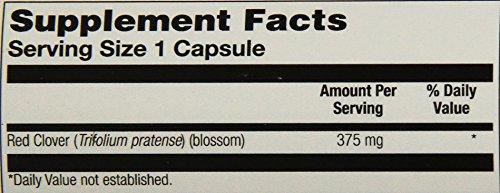 Solaray Red Clover Blossom, Veg Cap (Btl-Plastic) 375mg | 100ct